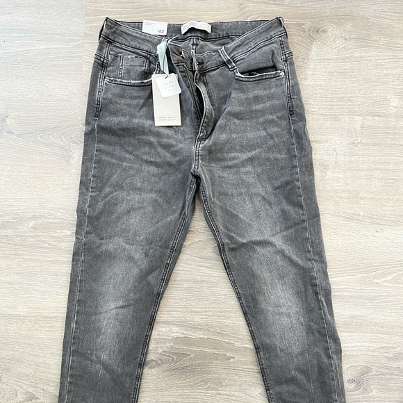 Zara grey women's skinny jeans